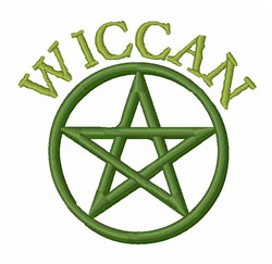 Wiccan embroidery design