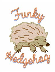 Funky Hedgehog embroidery design