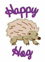 Happy Hog embroidery design