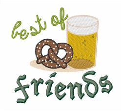 Best of Friends embroidery design