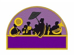 Jazz Band embroidery design