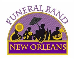 Funeral Band embroidery design