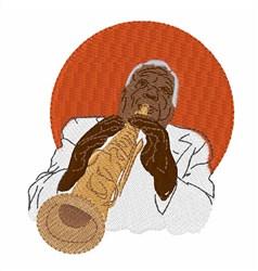 Clarinetist Sidney Bechet embroidery design