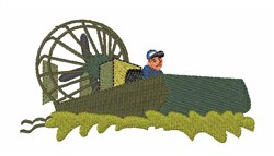 Bayou Airboat embroidery design