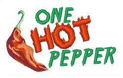 One Hot Pepper embroidery design