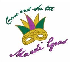 See Mardi Gras embroidery design