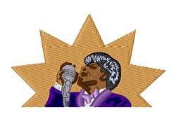James Brown embroidery design