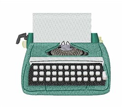 Typewriter embroidery design