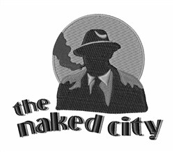 The Naked City embroidery design