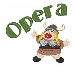 Opera embroidery design