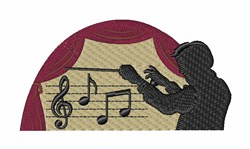 Conductor embroidery design