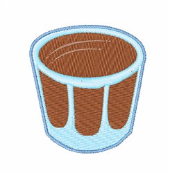 Shot Glass embroidery design