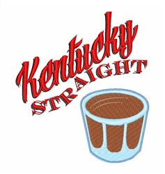 Kentucky Straight embroidery design