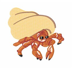 Hermit Crab embroidery design