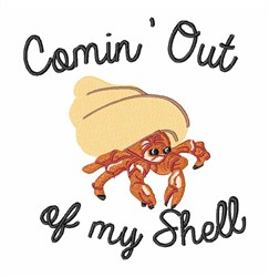 Out Of Shell embroidery design