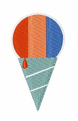 Striped Sno Cone embroidery design
