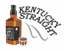 Straight Kentucky embroidery design