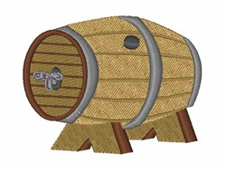 Beer Keg embroidery design