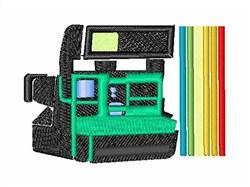 Polaroid Camera embroidery design