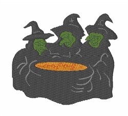 Witches embroidery design
