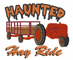 Haunted Hay Ride embroidery design