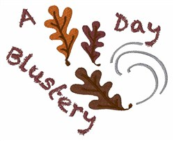 Blustery Day embroidery design
