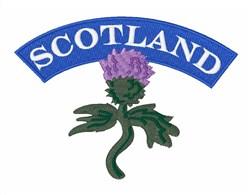 Scotland embroidery design