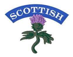 Scottish embroidery design