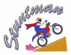 Stuntman Bike embroidery design