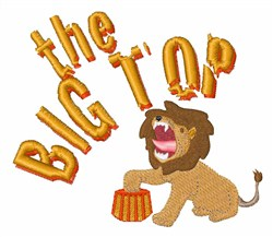 Big Top Lion embroidery design