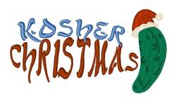 Kosher Christmas embroidery design