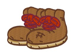 Hiking Boots embroidery design
