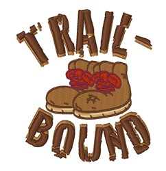 Trail Bound embroidery design