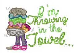 Throwing Towel embroidery design