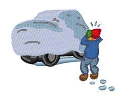Snow Car embroidery design