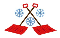 Snowflake Shovels embroidery design