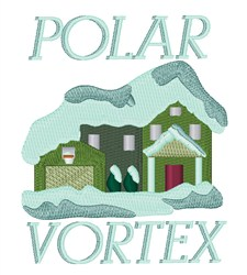 Polar Vortex embroidery design