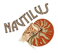 Nautilus Animal embroidery design