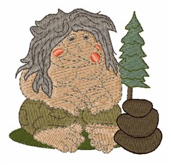 Troll embroidery design