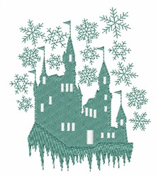 Snow Castle embroidery design