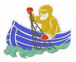 Fisherman embroidery design