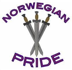 Norwegian Pride embroidery design