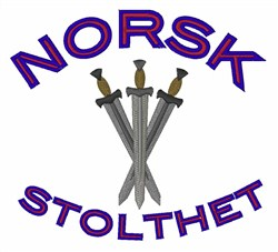 Norsk Stolthet embroidery design