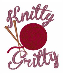 Knitty Gritty embroidery design