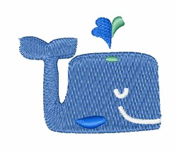 Smile Whale embroidery design