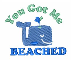 Whale Beached embroidery design