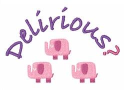 Delirious Elephants embroidery design