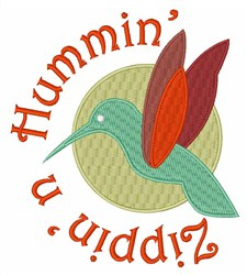 Zippin n Hummin embroidery design
