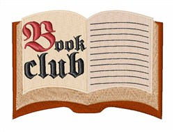 Book Club embroidery design