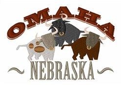 Omaha Nebraska embroidery design